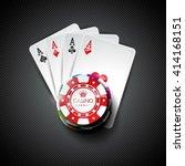 vector illustration on a casino ... | Shutterstock .eps vector #414168151