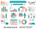 collection of infographic...   Shutterstock .eps vector #414172237