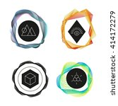 vector abstract logo. geometric ... | Shutterstock .eps vector #414172279