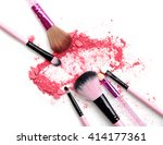 multi colored powder eyeshadow... | Shutterstock . vector #414177361