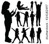 child set silhouette... | Shutterstock .eps vector #414182497