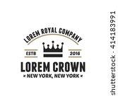 retro luxury crown sign....   Shutterstock .eps vector #414183991