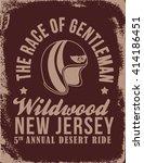 race of gentleman. vintage... | Shutterstock .eps vector #414186451