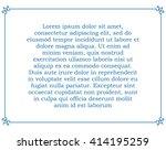 blue border frame deco vector... | Shutterstock .eps vector #414195259