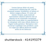 blue border frame deco vector... | Shutterstock .eps vector #414195379