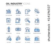 simple set of oil industry... | Shutterstock .eps vector #414196537