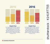 bar chart template   Shutterstock .eps vector #414197755