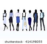 group of colored silhouettes of ...   Shutterstock .eps vector #414198055