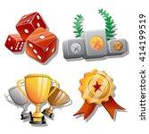 3d vector game icon set   Shutterstock .eps vector #414199519