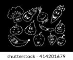 happy fruits and vegetables....   Shutterstock .eps vector #414201679
