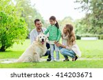 family  pet  domestic animal... | Shutterstock . vector #414203671