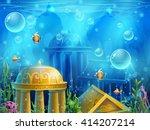 atlantis ruins   vector... | Shutterstock .eps vector #414207214