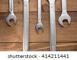 set of wrenches. wrenches in... | Shutterstock . vector #414211441