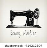 vector hand drawn retro ... | Shutterstock .eps vector #414212809