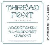 vector trendy flat font with... | Shutterstock .eps vector #414213091