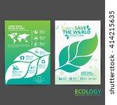 ecology brochures | Shutterstock .eps vector #414215635