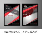 brochure template  flyer design ... | Shutterstock .eps vector #414216481