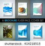 brochure template  flyer design ... | Shutterstock .eps vector #414218515