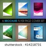 brochure template  flyer design ... | Shutterstock .eps vector #414218731