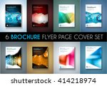 set of 8 brochures templates ... | Shutterstock .eps vector #414218974