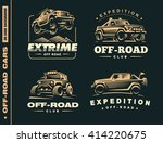 set of four off road suv car ... | Shutterstock .eps vector #414220675