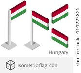 hungary isometric flag icon  | Shutterstock .eps vector #414222325