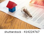 wooden house miniature and...   Shutterstock . vector #414224767