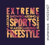 t shirt extreme sports  design  ... | Shutterstock . vector #414231427