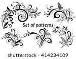 set of vintage calligraphic... | Shutterstock . vector #414234109
