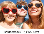 friendship happiness summer... | Shutterstock . vector #414237295
