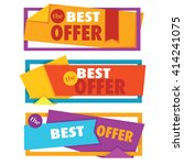 vector collection of bright... | Shutterstock .eps vector #414241075