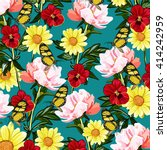 flower and butterfly | Shutterstock .eps vector #414242959