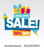 big sale banner. special offer. ... | Shutterstock .eps vector #414242965