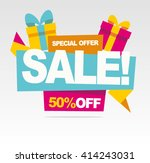 big sale banner.  special offer.... | Shutterstock .eps vector #414243031