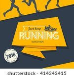 running marathon and jogging... | Shutterstock .eps vector #414243415