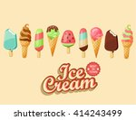 ice cream collection  vector... | Shutterstock .eps vector #414243499