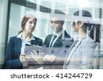 business people working on... | Shutterstock . vector #414244729