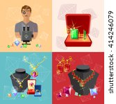 jewelry banners  jeweler at... | Shutterstock .eps vector #414246079