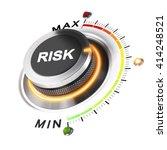 risk level knob positioned on... | Shutterstock . vector #414248521