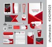 white corporate identity... | Shutterstock .eps vector #414249025