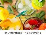 refreshing summer cocktails ...   Shutterstock . vector #414249841
