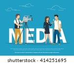 mass media announcement concept ... | Shutterstock .eps vector #414251695