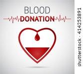 donate blood vector... | Shutterstock .eps vector #414253891