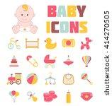 baby icons. kids logos. newborn.... | Shutterstock .eps vector #414270505