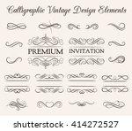 ornate frame elements. vintage... | Shutterstock .eps vector #414272527