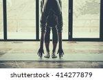 young beautiful woman... | Shutterstock . vector #414277879