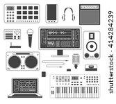 set of musician digital... | Shutterstock .eps vector #414284239