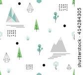 scandinavian geometric seamless ... | Shutterstock .eps vector #414284305