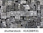 close up of old used metal... | Shutterstock . vector #414288931