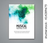 colorful vector music poster... | Shutterstock .eps vector #414289675